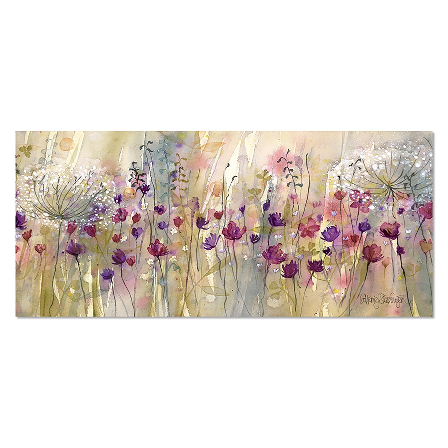 Image of Catherine Stephenson Spring Floral Pods Canvas, Multi