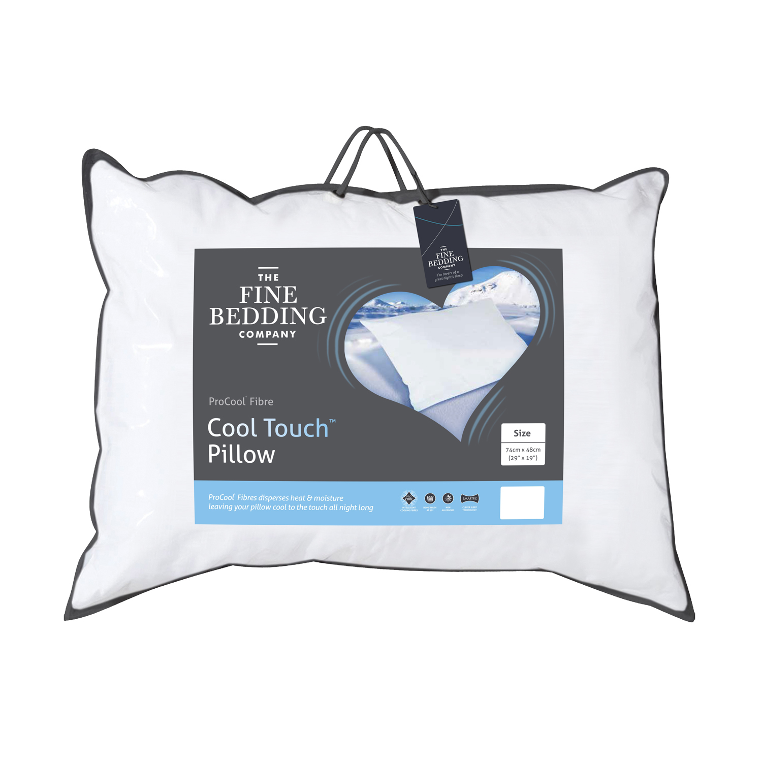 Image of Fine Bedding Company Cool Touch Pillow, 70cmx40cm