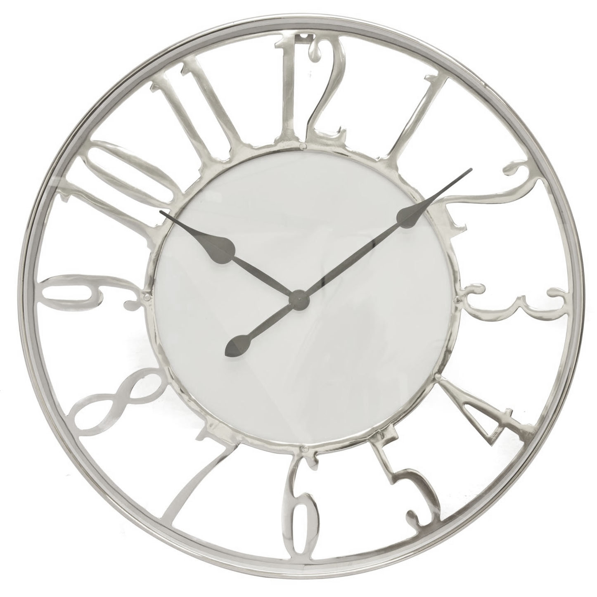 Image of Casa Kensington Wall Clock, Silver