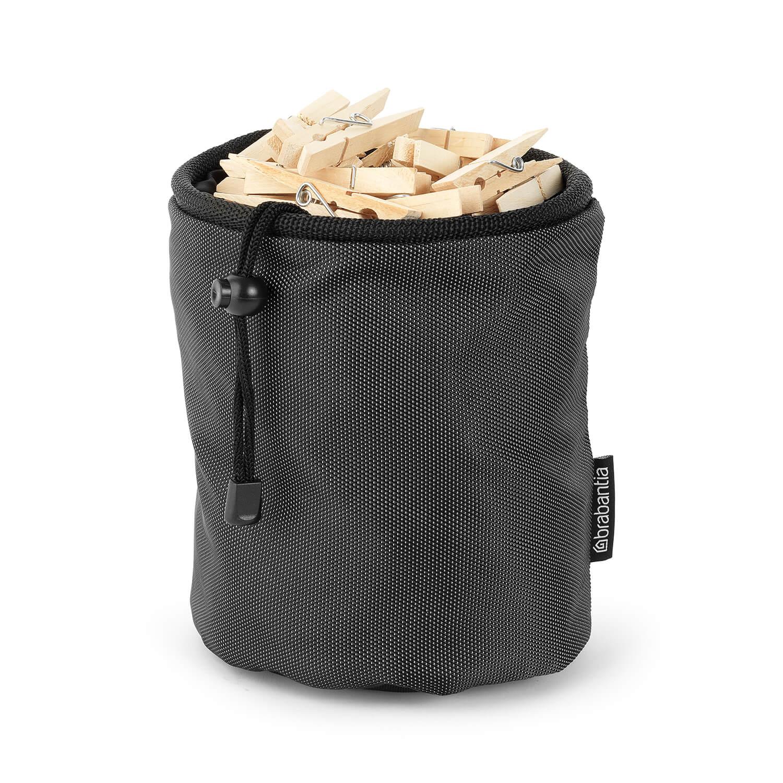 Image of Brabantia Clothes Peg Bag Premium, Black/Grey