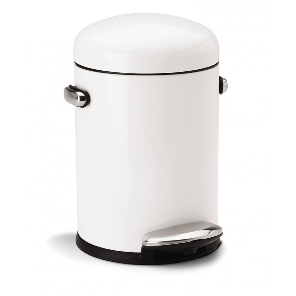 Image of Simplehuman 4.5l Retro Bin, White