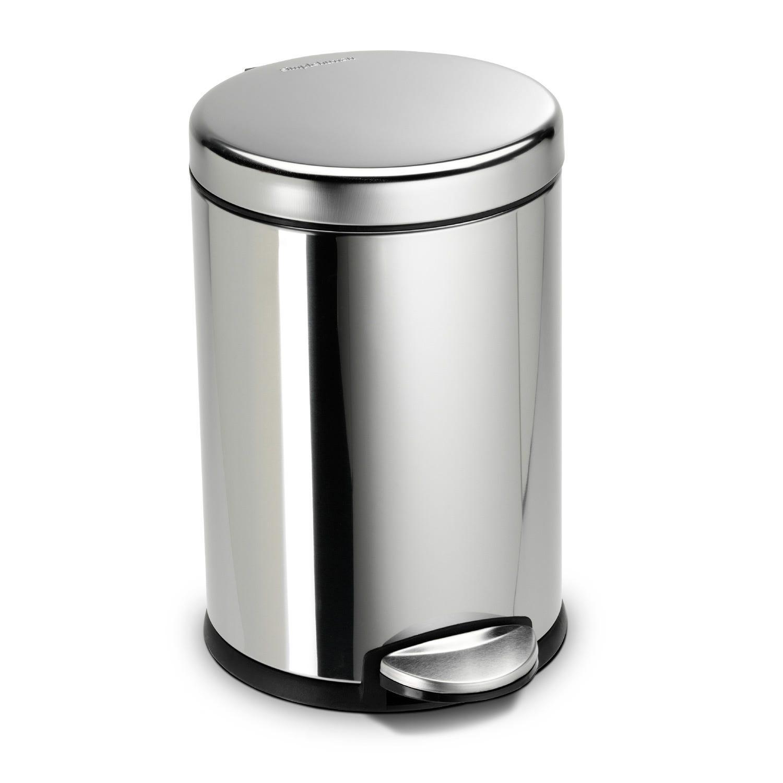 Image of Simplehuman 4.5l Pedal Bin, Polished Steel