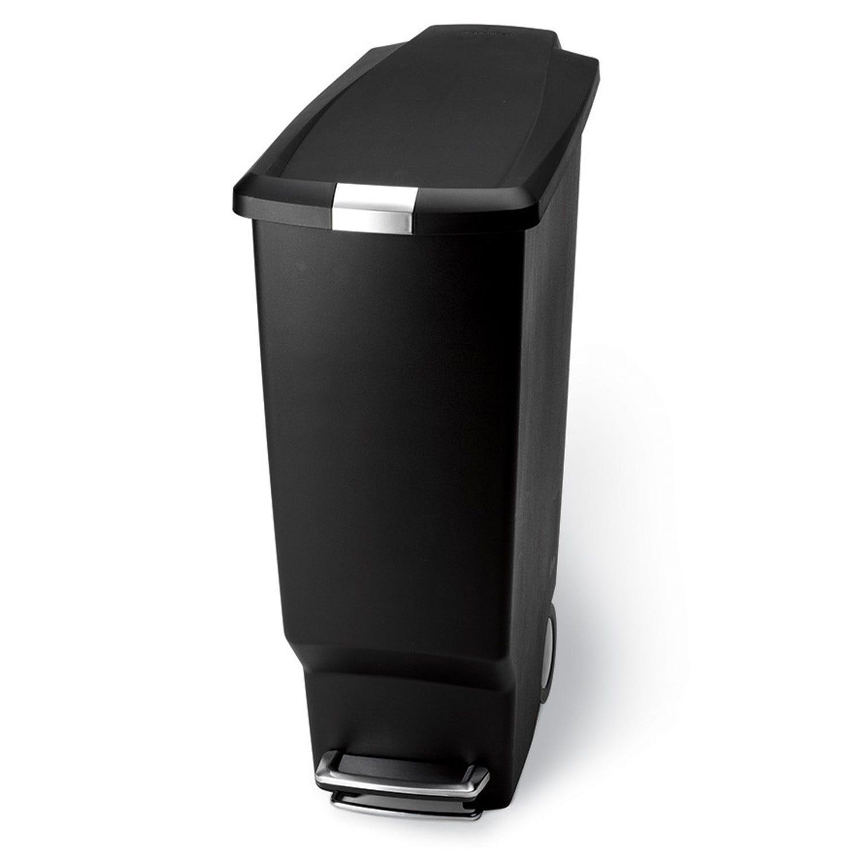 Simplehuman 25 Litre Slim Pedal Bin, Black
