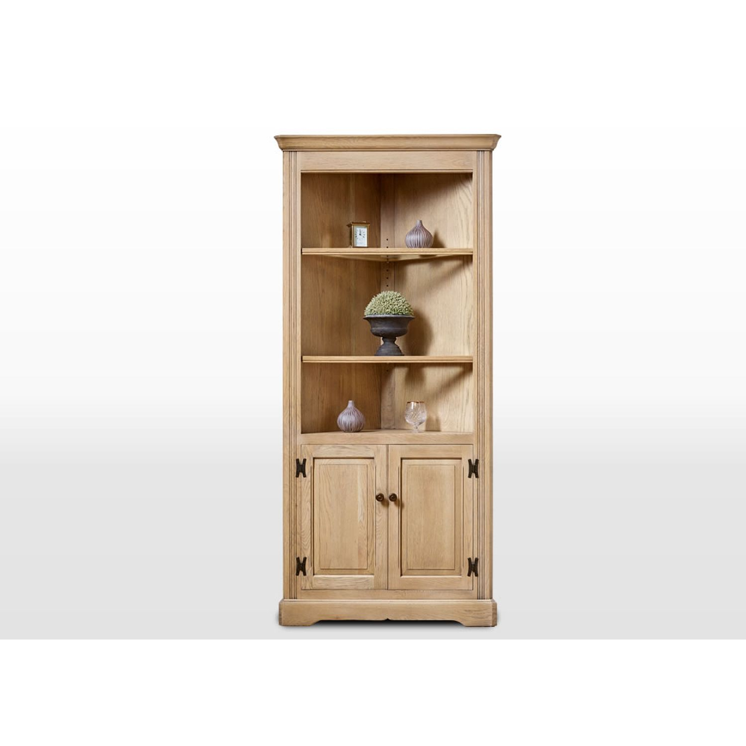 Image of Old Charm Open Corner Cabinet