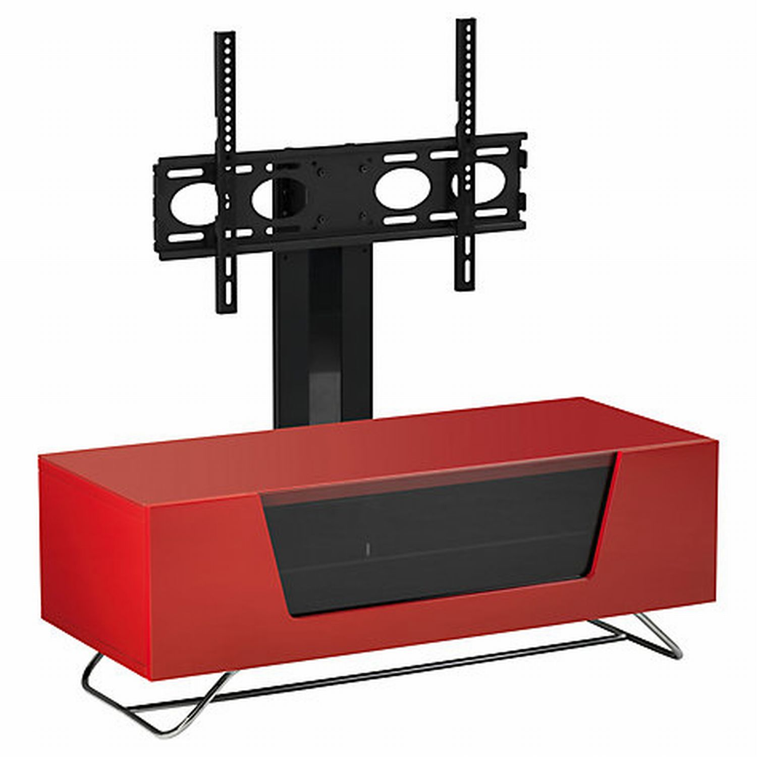 Image of Casa Chromium Cantilever Hg Red TV Stand