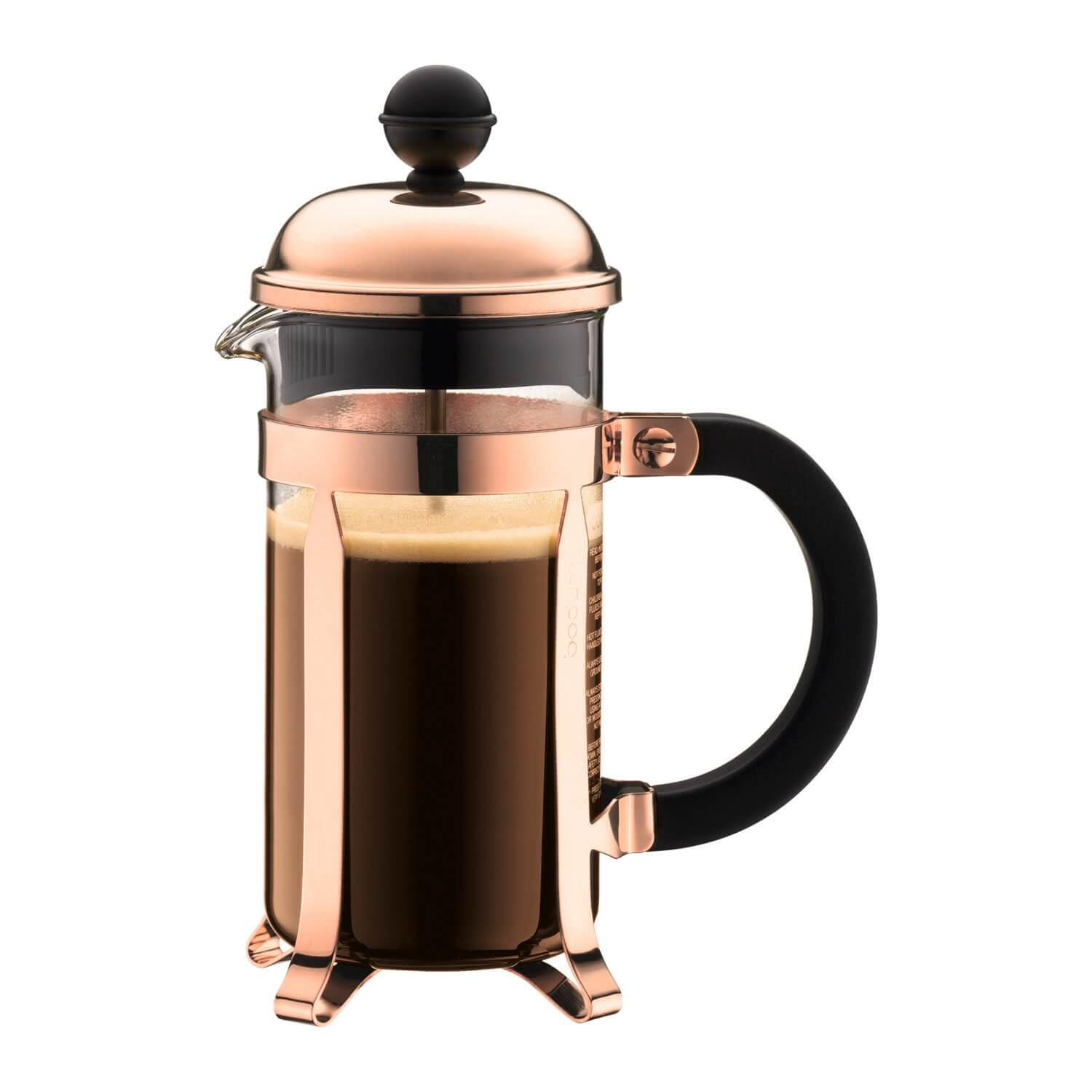 Image of Bodum Chambord 3-cup Coffeemaker, Copper