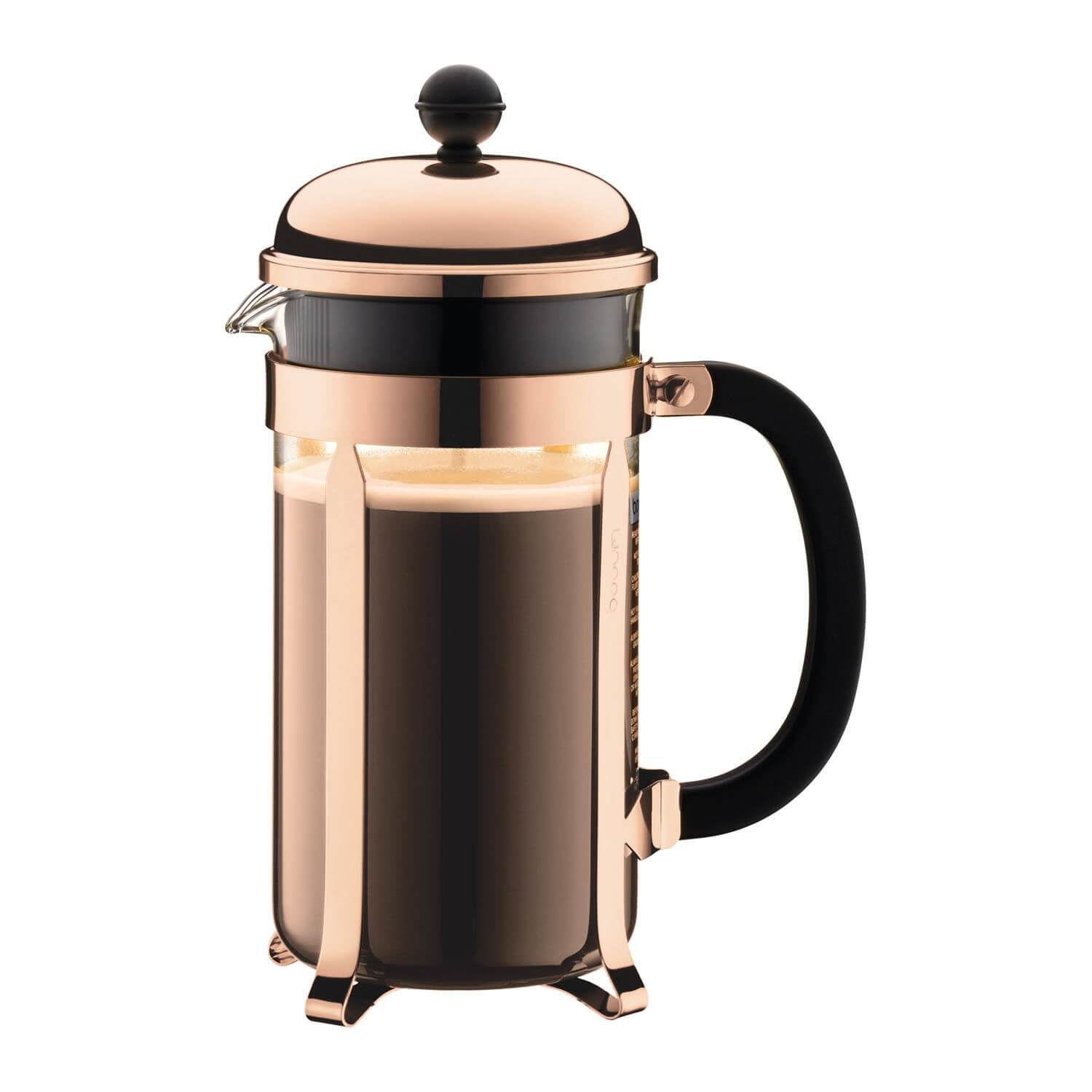 Image of Bodum Chambord 8-cup Coffeemaker, Copper