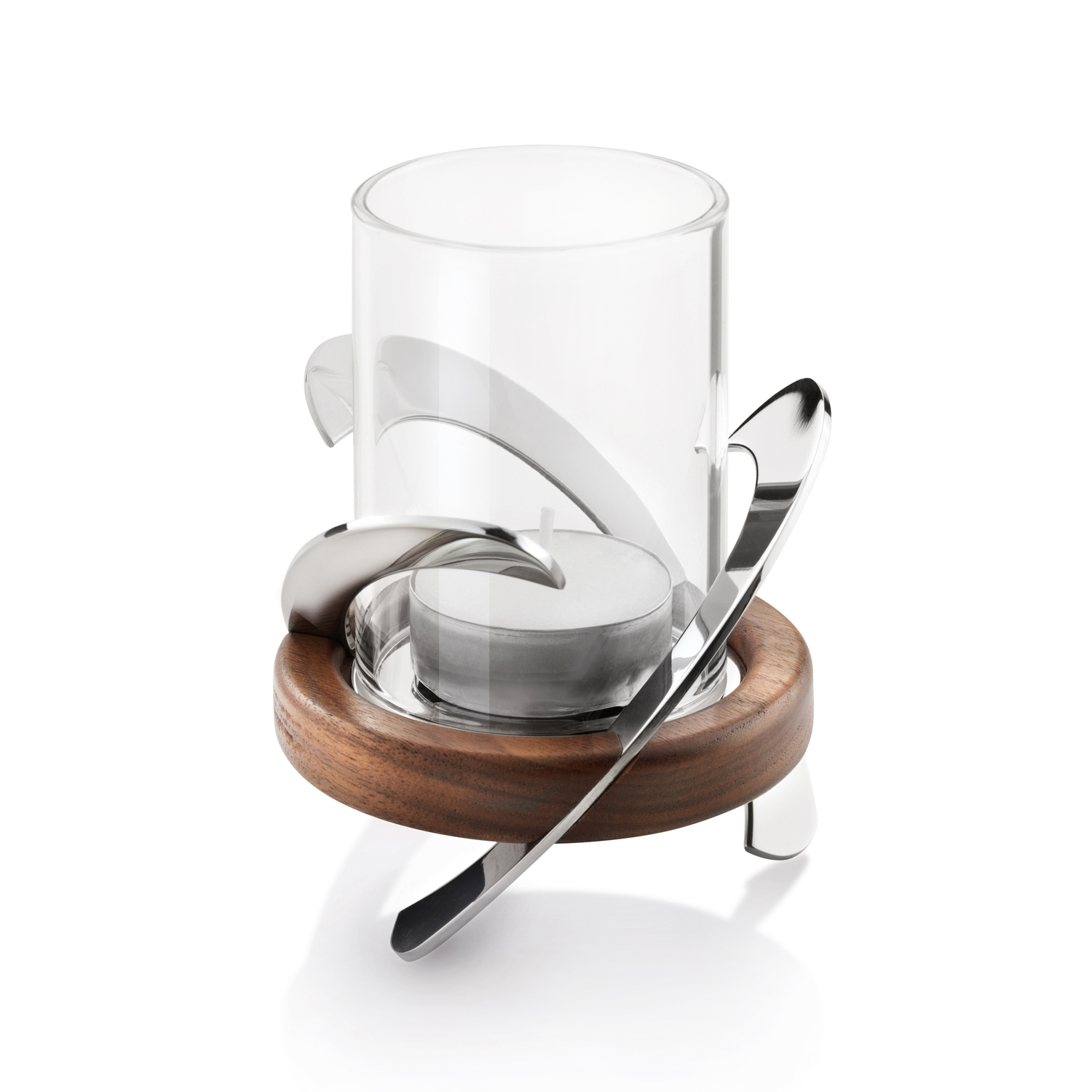 Image of Robert Welch Helix Tealight Holder, Stainless Steel