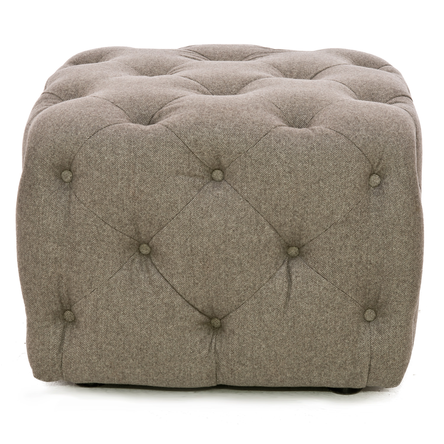Image of Alexander & James Button Fabric Footstool