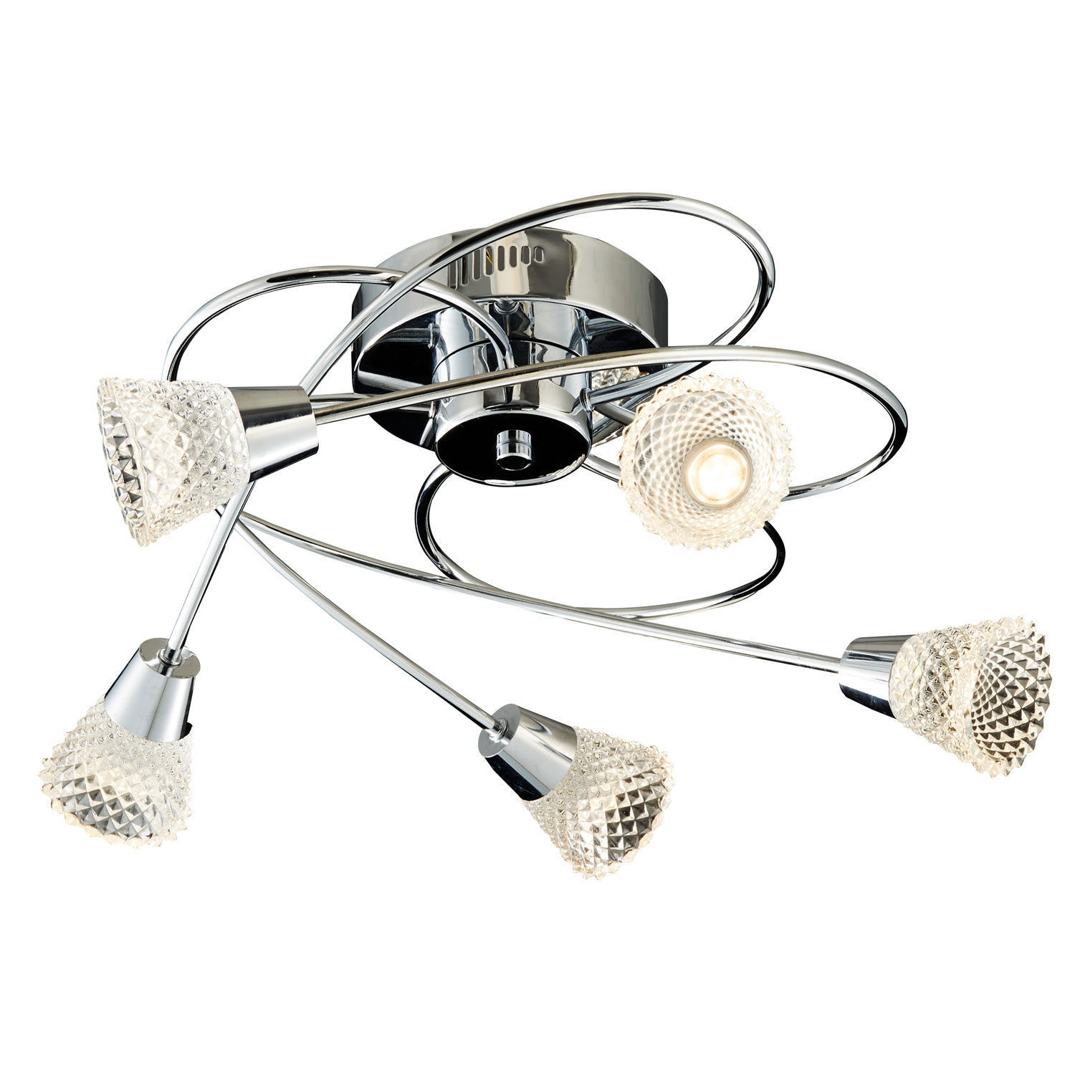 Image of Casa Basket Weave 5 Light, Chrome