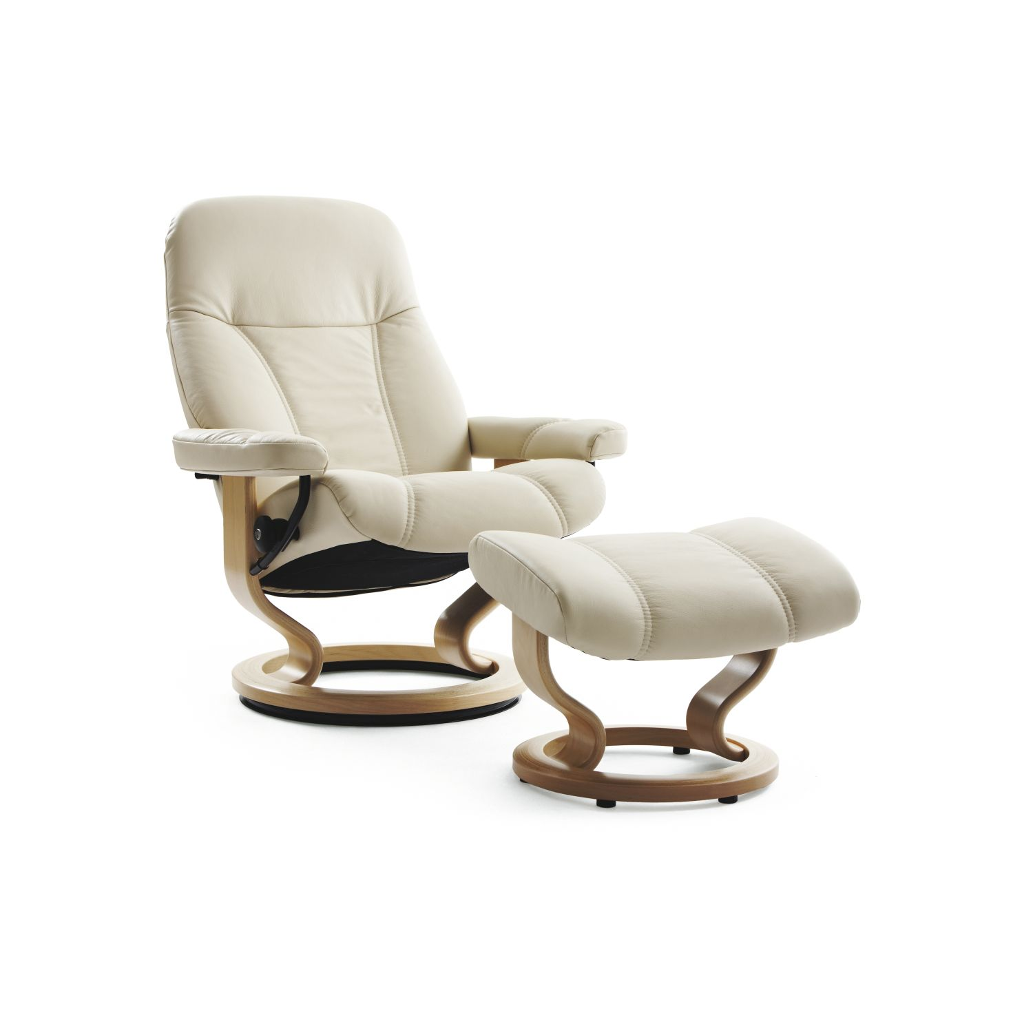 Image of Stressless Consul Large Leather Armchair & Stool