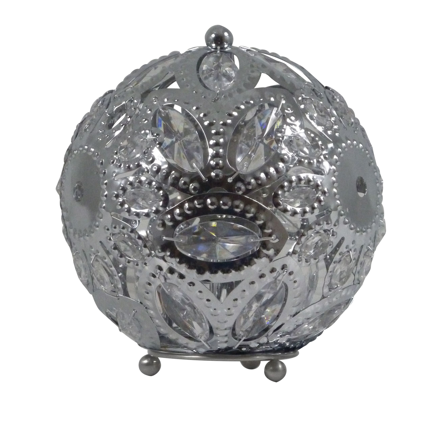 Casa Ashanti Ball Table Lamp, Chrome