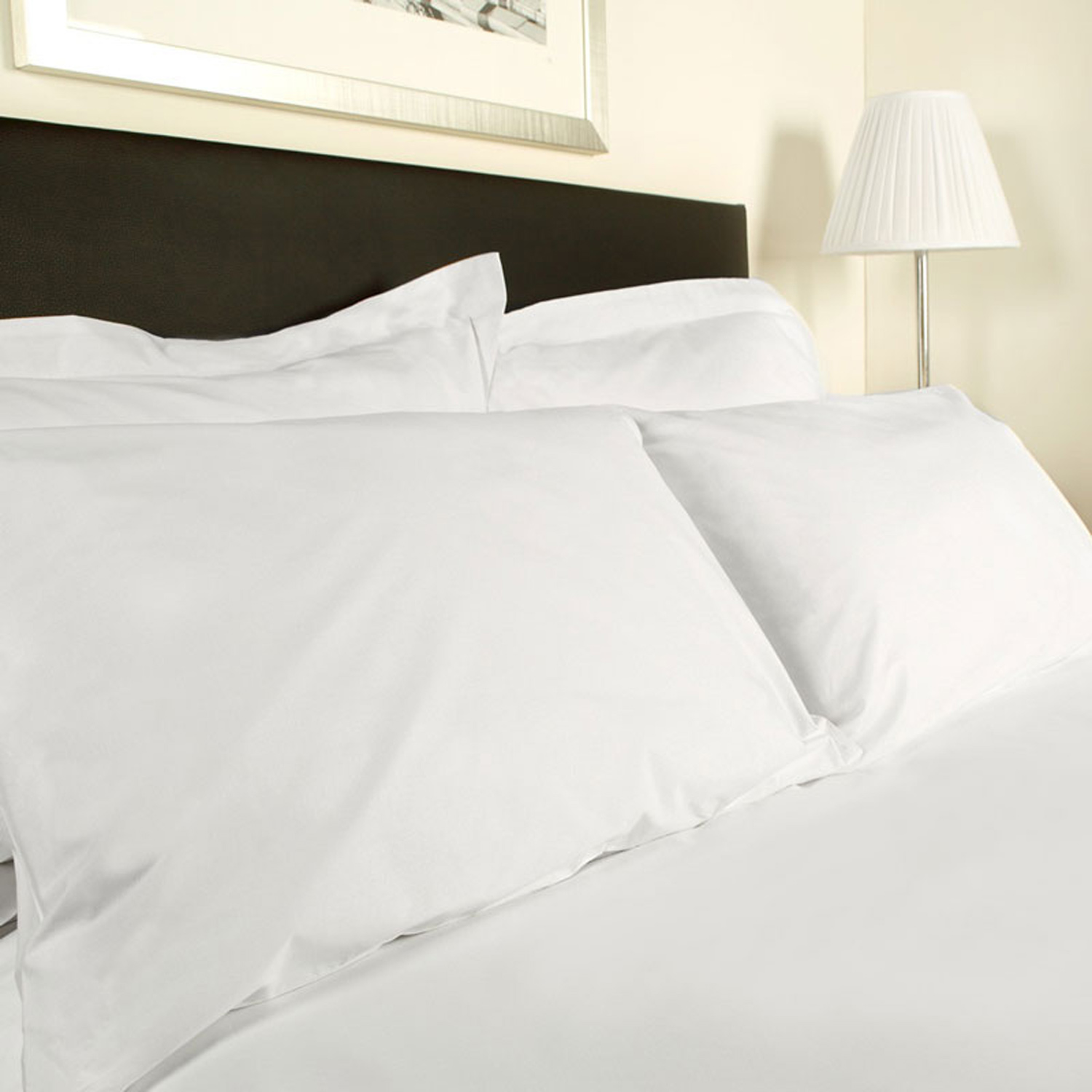 Image of Belledorm 200 Thread Count Extra Large Housewife Pillowcase, White