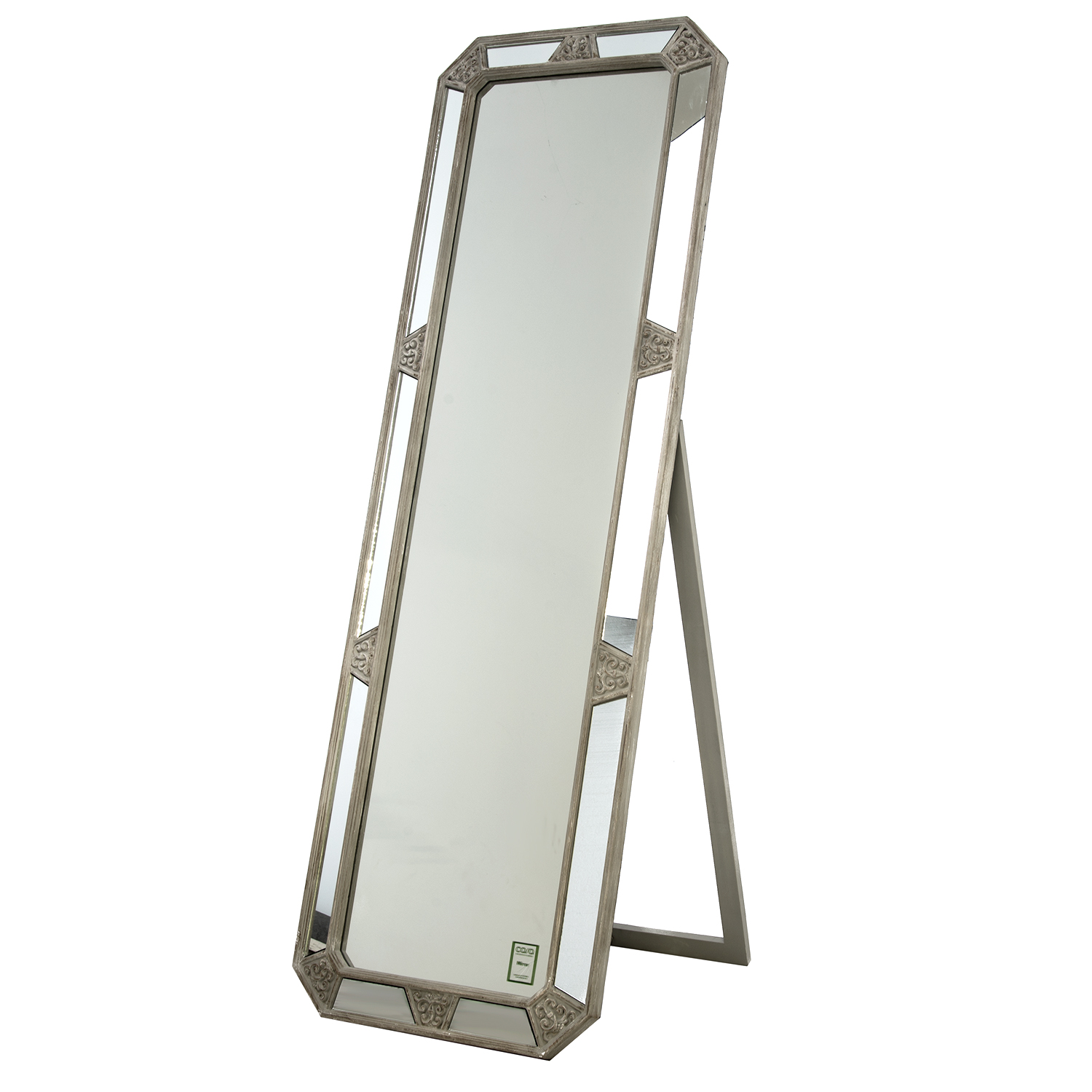 Image of Casa Cheval Mirror with Stand, Grey