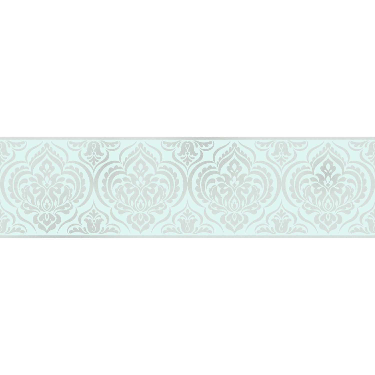 Fine Decor Glitz Ornamental Damask Wallpaper Border Duck Eg
