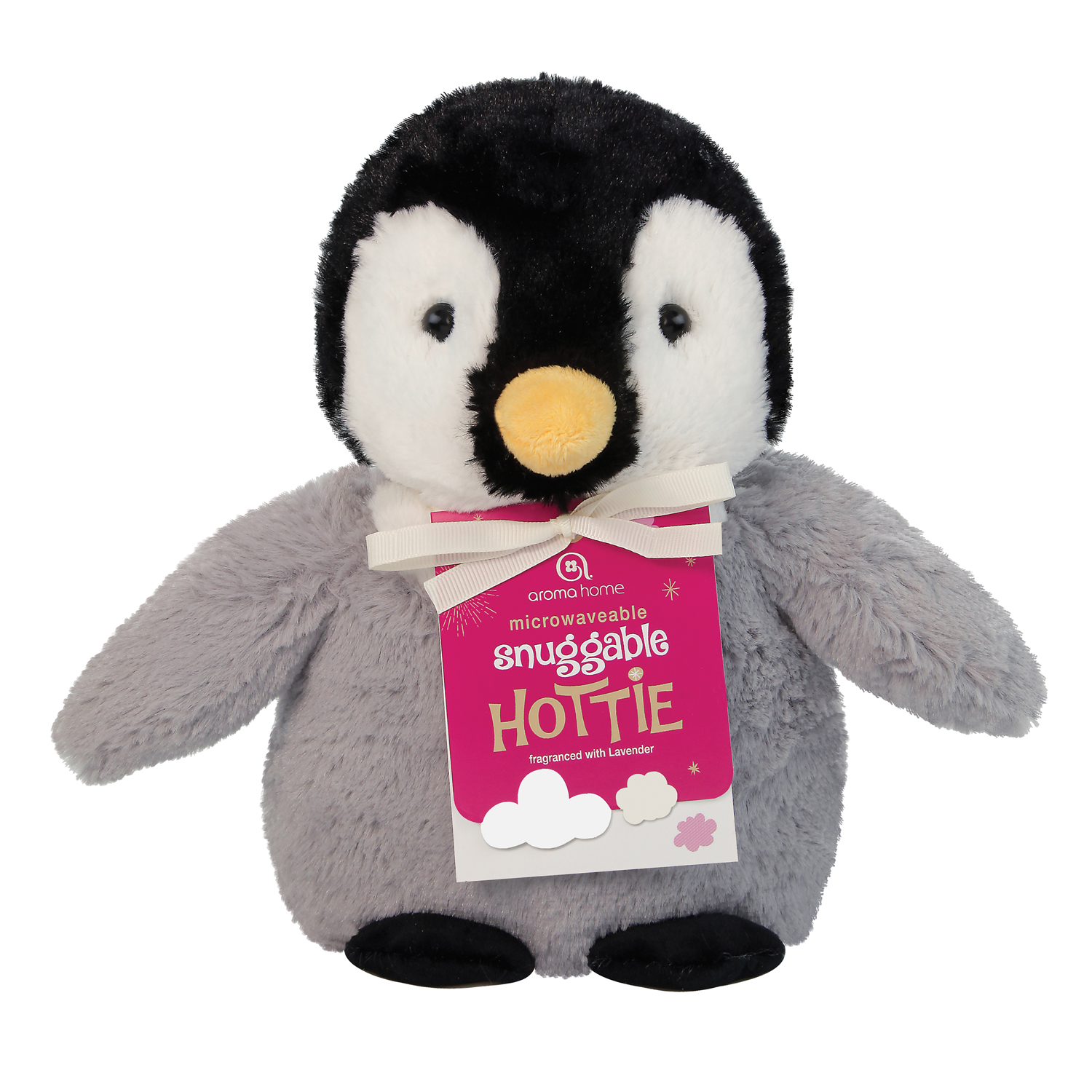Aroma Home Snuggle Hotties Penguin, Grey