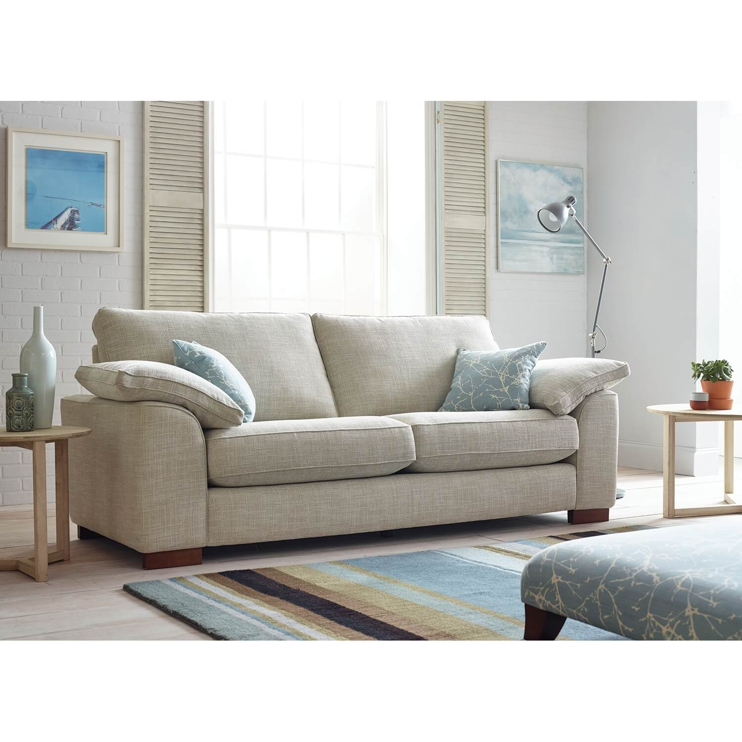 Image of Casa Blaise 4 Seater Fabric Sofa