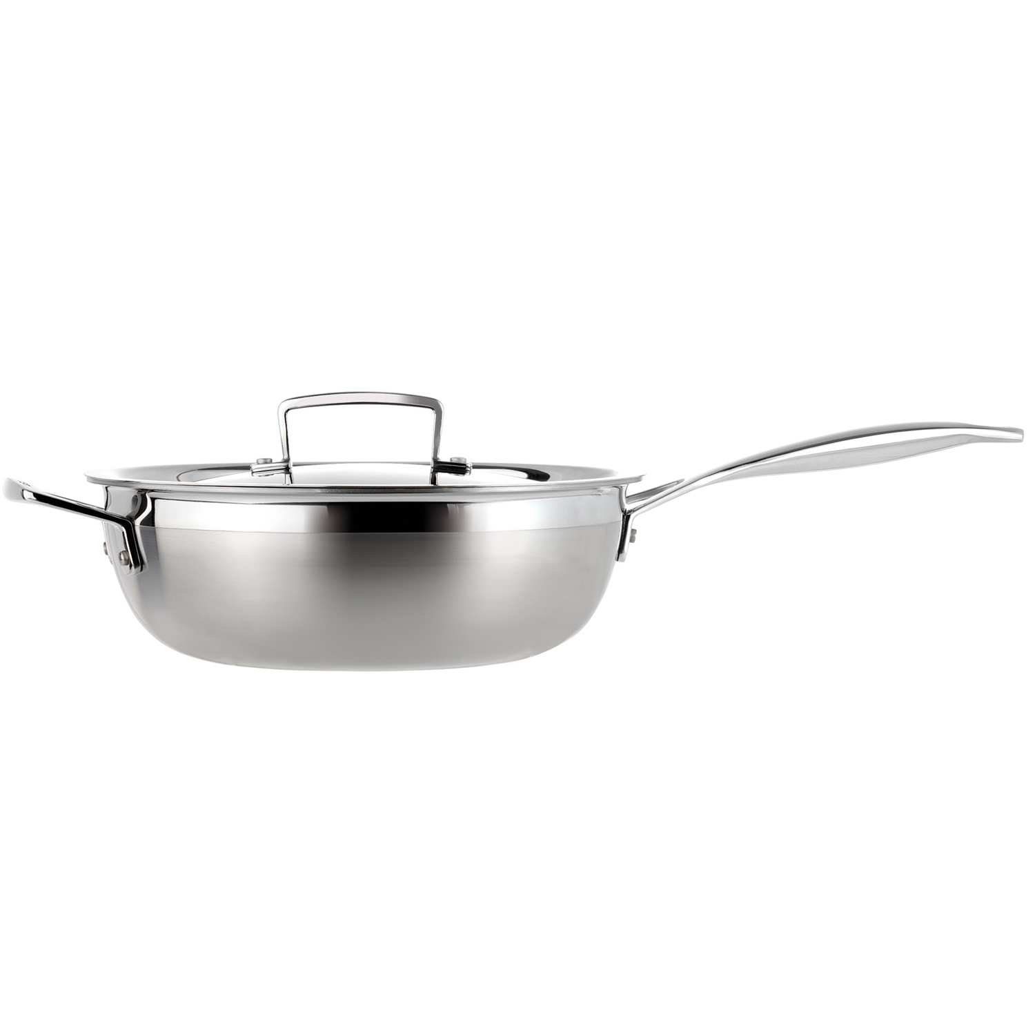 Image of Le Creuset 3-Ply Stainless Steel Chefs Pan, 24cm