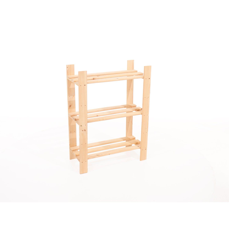 Image of Core Products 3 Shelf Narrow Slatted Storage Unit