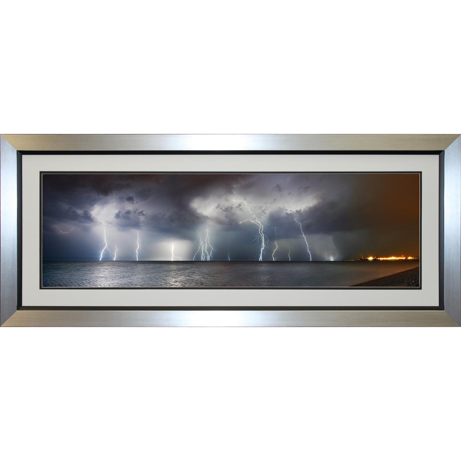 Image of Complete Colour Brighton Lightning Panorama Print