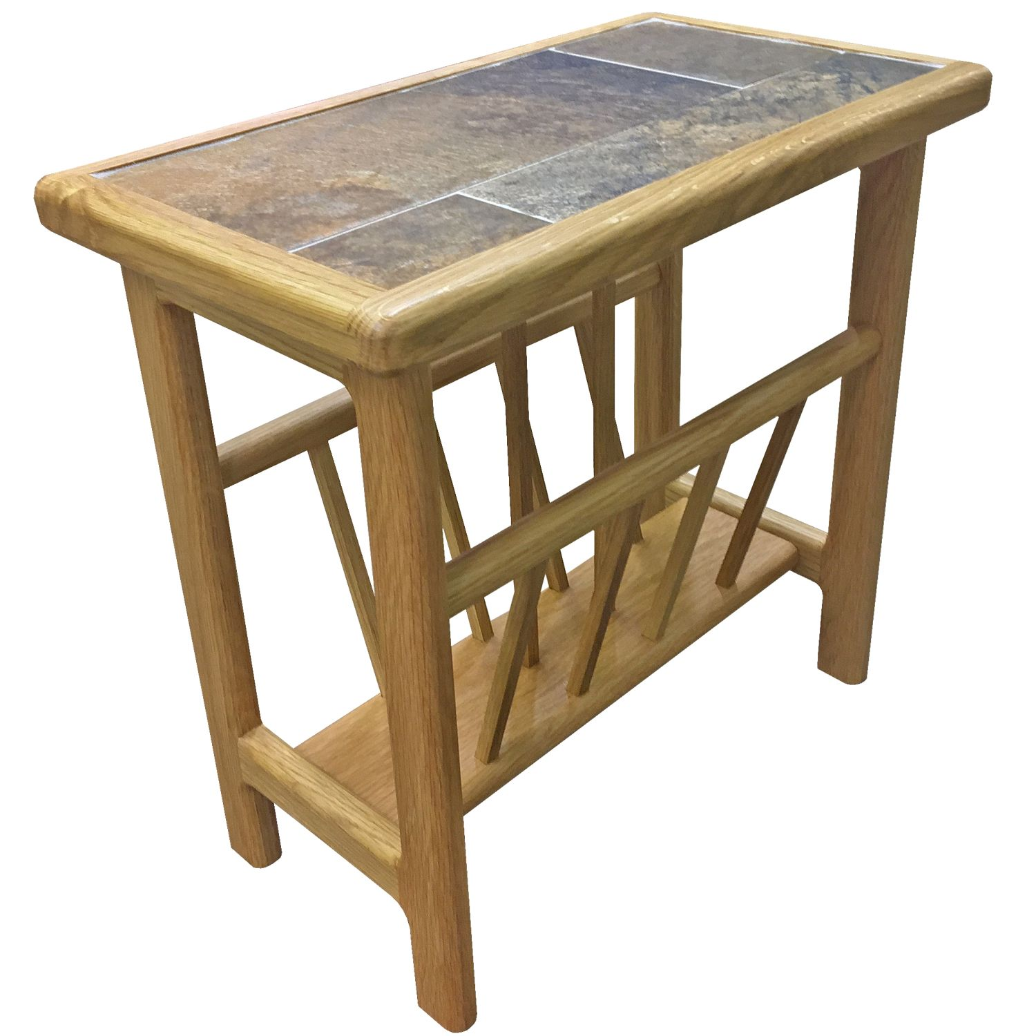 Image of Casa Autumn Tile Top Magazine Table
