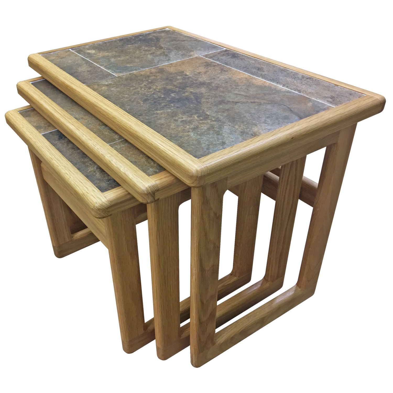 Image of Casa Autumn Tile Top Small Nest Of Tables