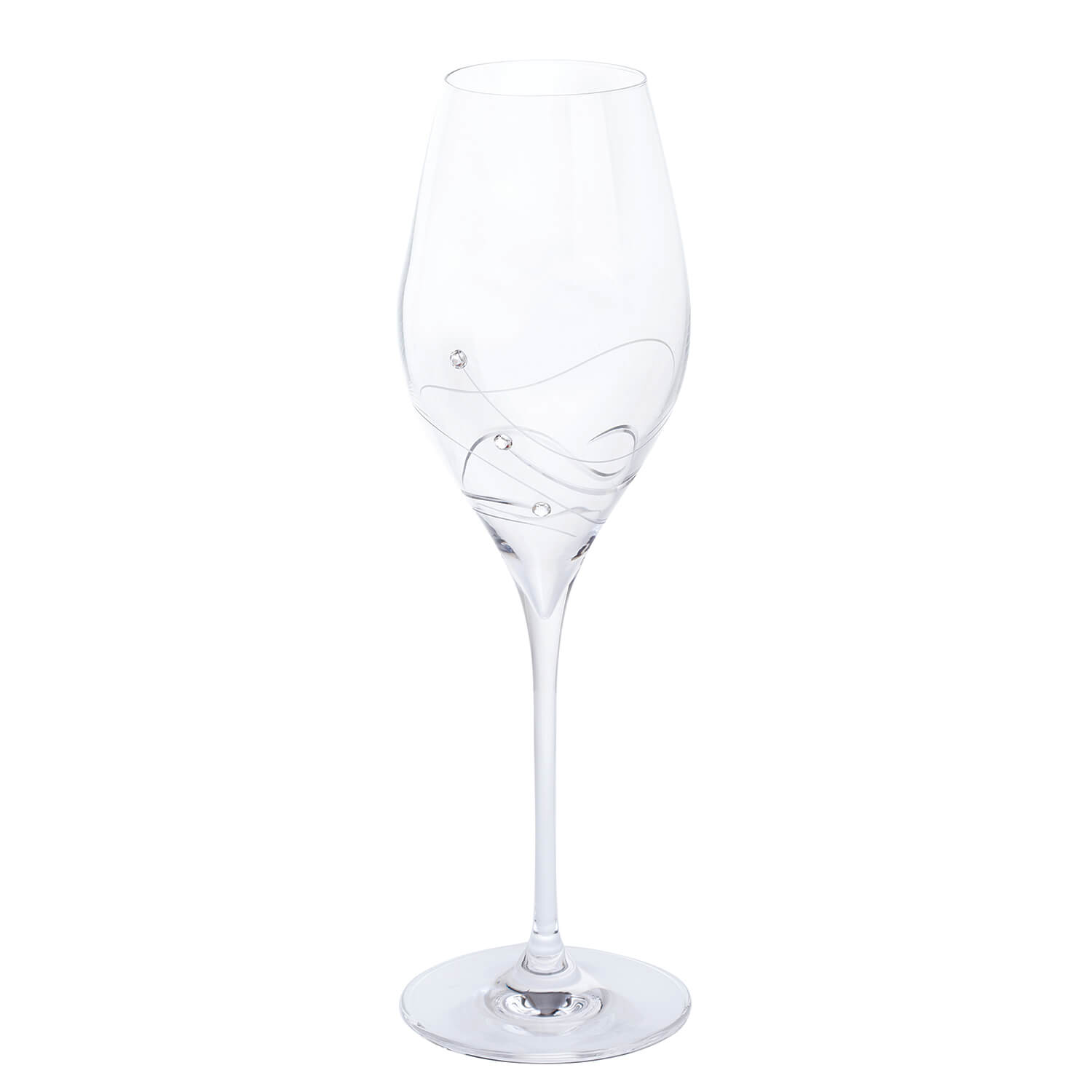 Image of Dartington Crystal Glitz Prosecco Glasses Pair, Clear