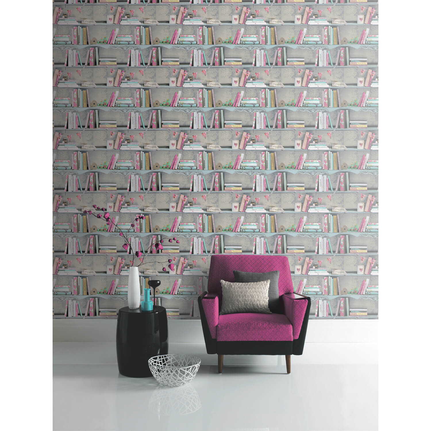 Image of Arthouse Curious Wallpaper, Multicolour