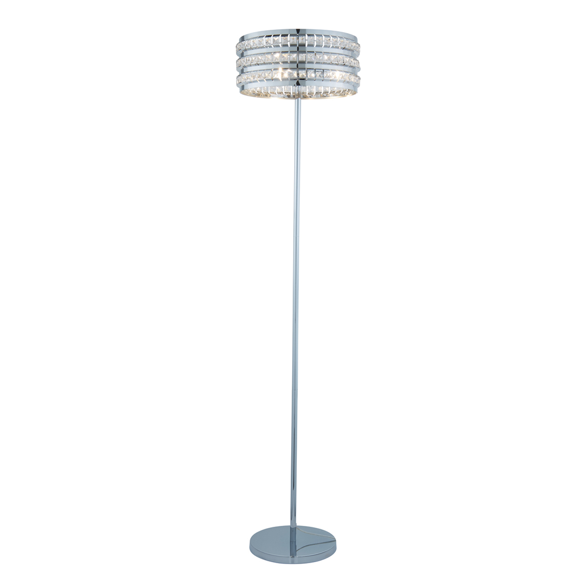 Image of Casa Natalie Crystal Bead Floor Lamp, Chrome