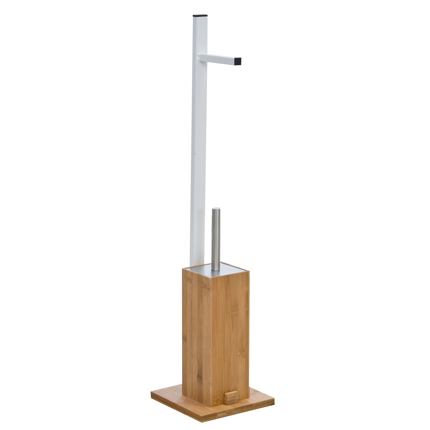 Image of Casa Bamboo Toilet Roll & Toilet Brush Stand