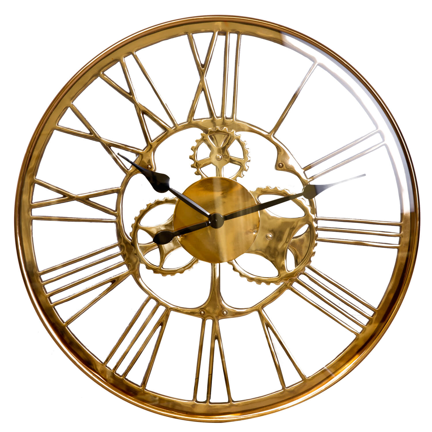 Image of Casa Artistic Gears Clock, Rose Gold