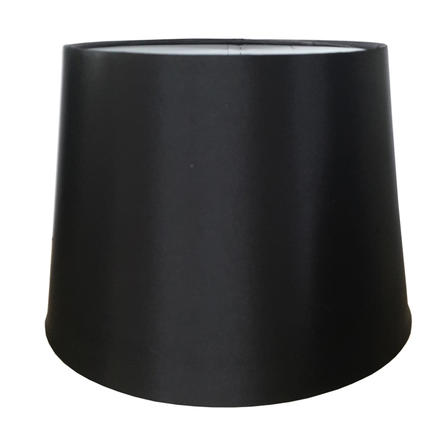 "10"" Empire Silk Shade, Black"