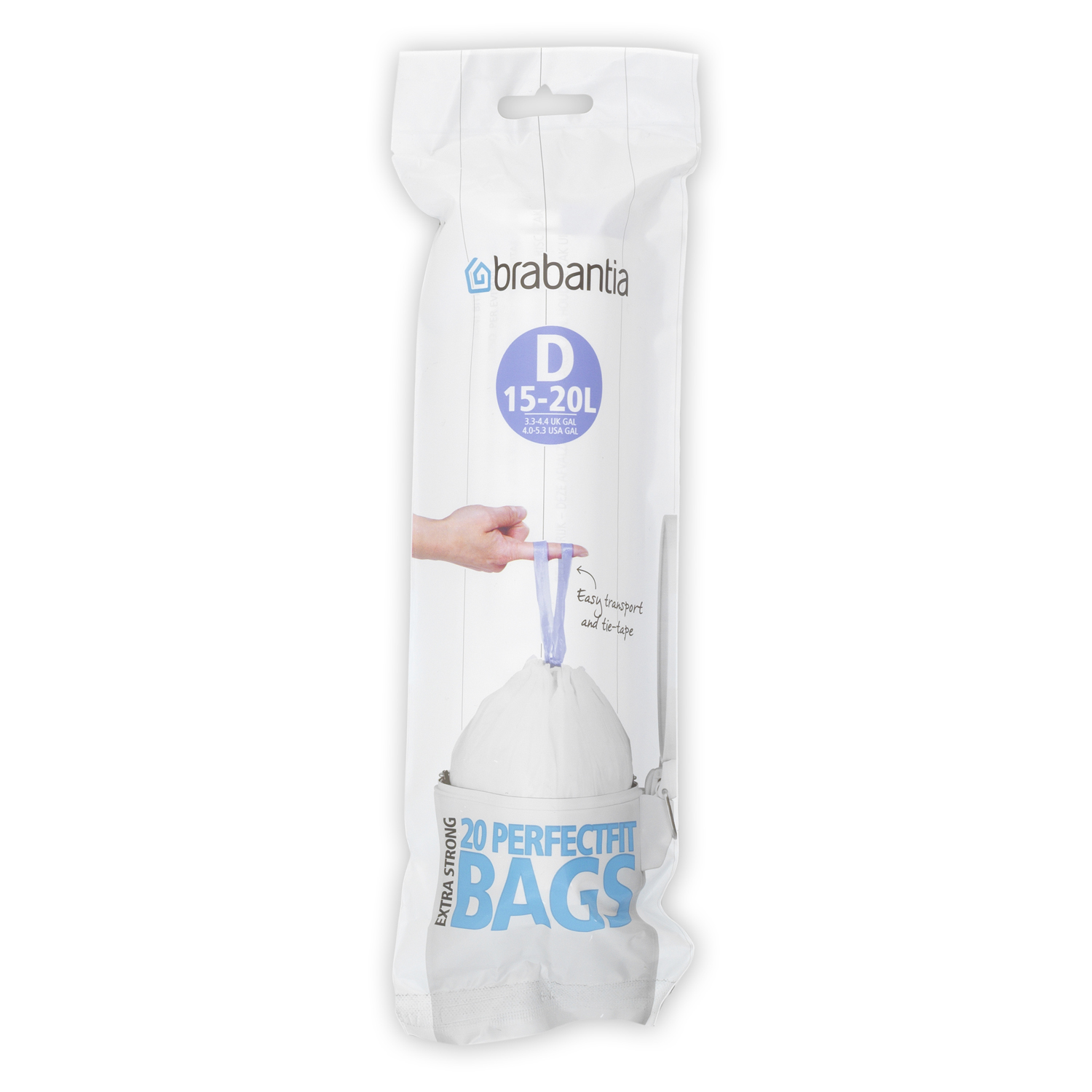 Image of Brabantia Bin Liner Coded 15L Code D (20 Bags)
