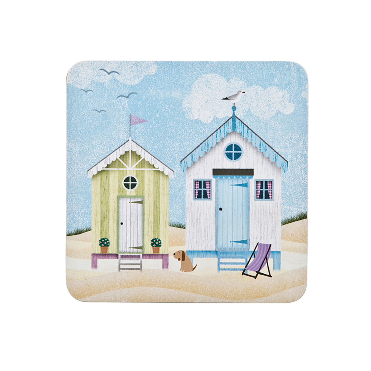 Image of Denby Coasters, Seaside, Set Of 6