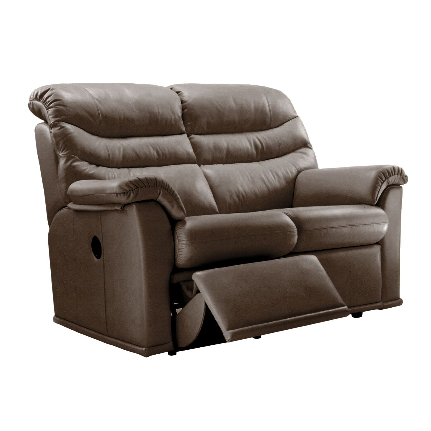 Image of G Plan Malvern 17 2 Seater Right Manual Recliner Leather Sofa