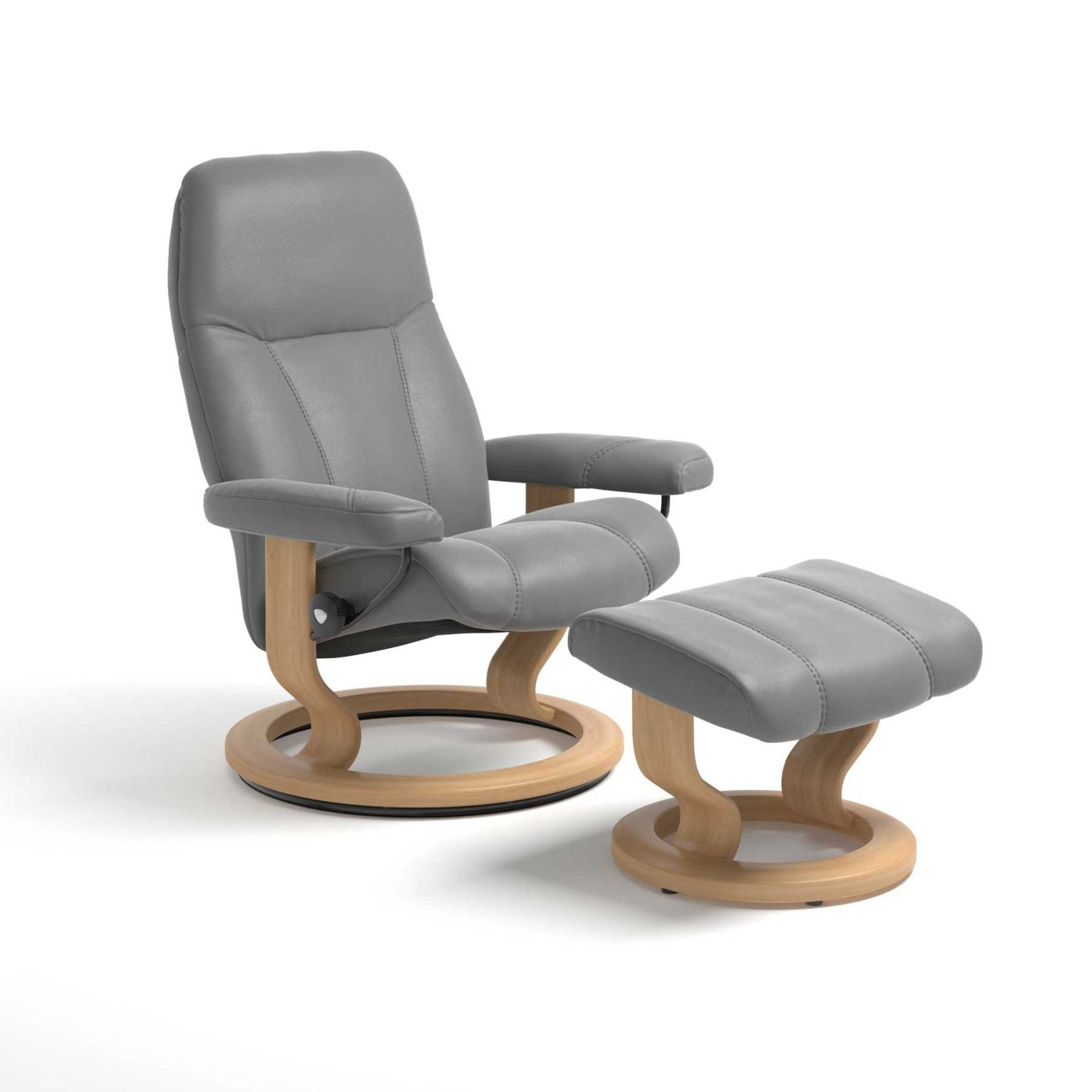 Image of Stressless Consul Large Chair & Stool
