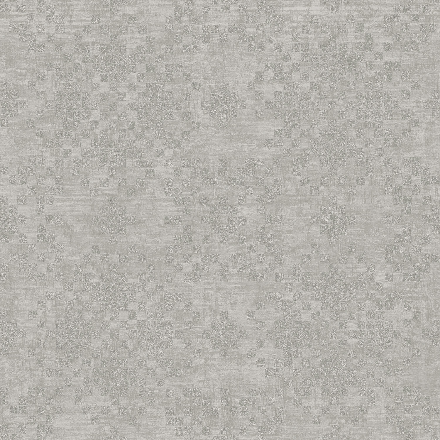 Image of Galerie Check Geometric Wallpaper, Silver/ Grey