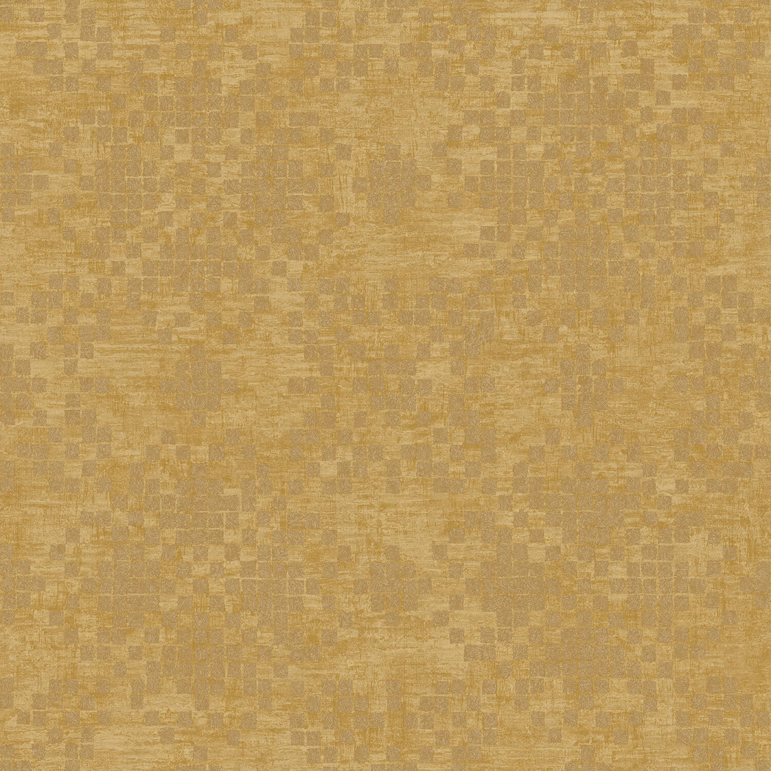 Image of Galerie Check Wallpaper, Gold