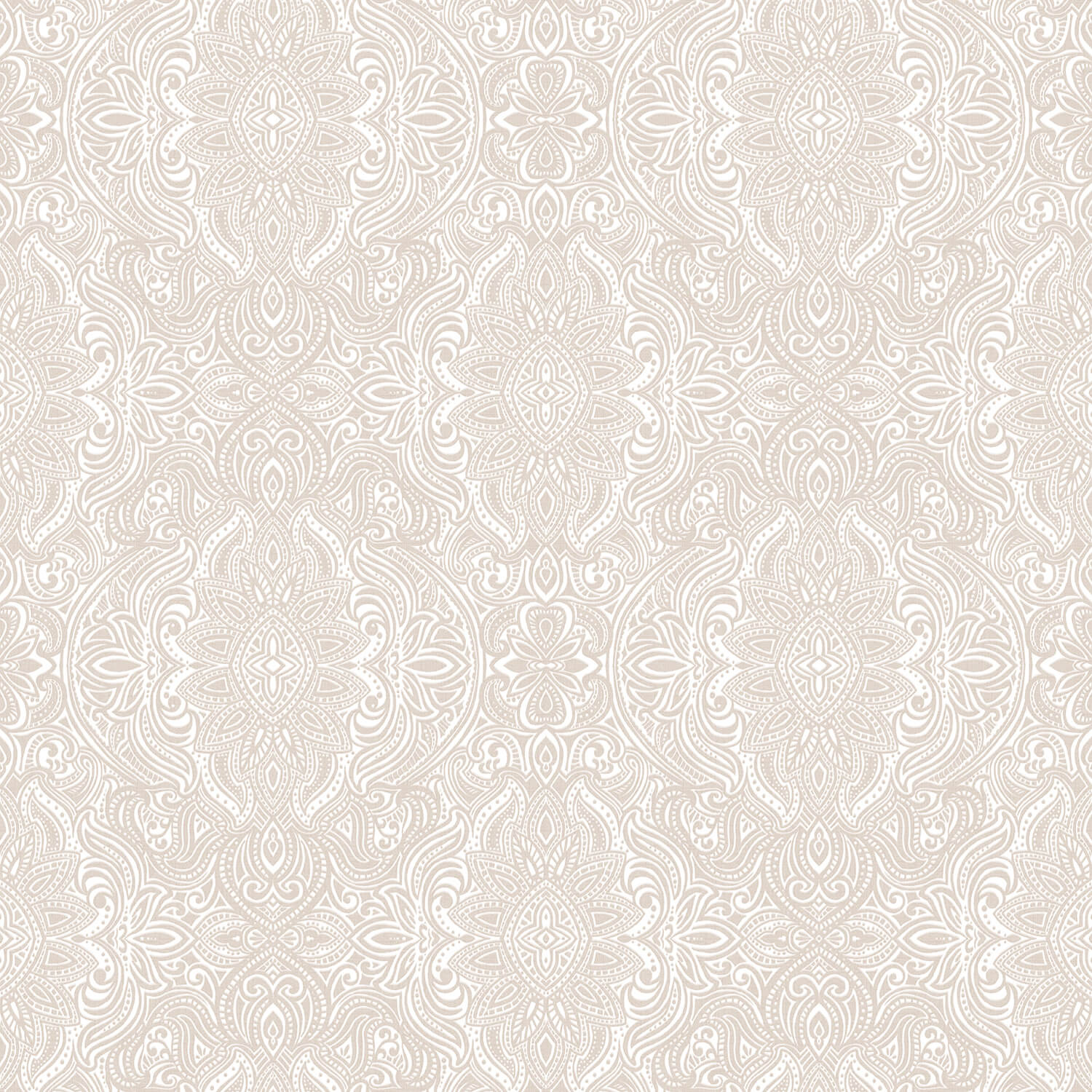 Image of Galerie Classic Damask Wallpaper, Taupe