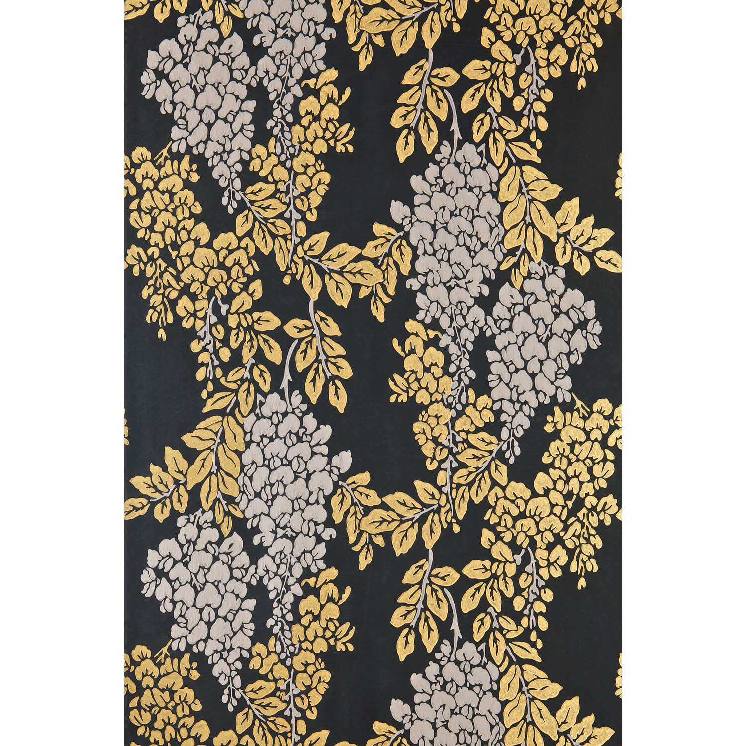 Farrow And Ball Wisteria Wallpaper 22-06, Black/ Yellow