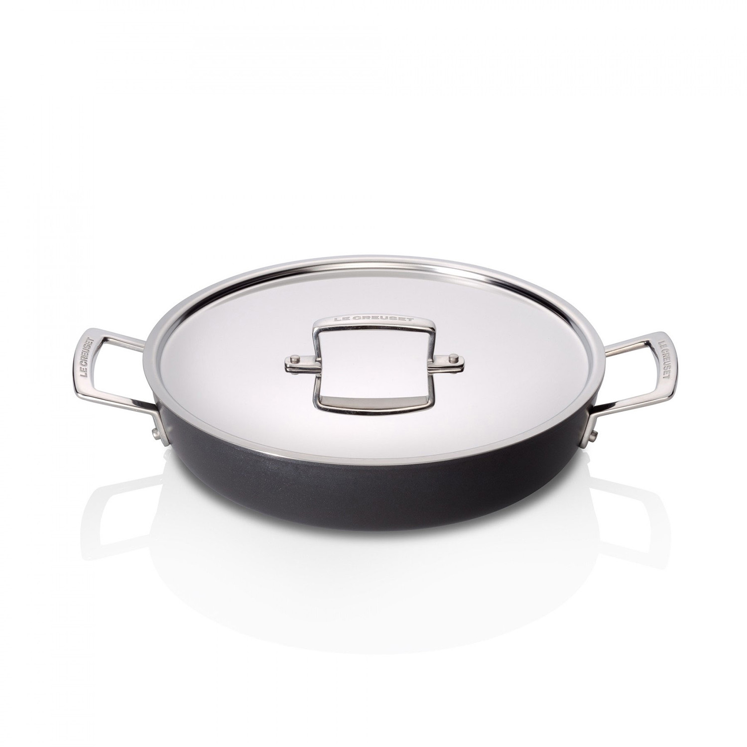 Le Creuset Professional Hard Anodised Shallow Casserole, 28cm