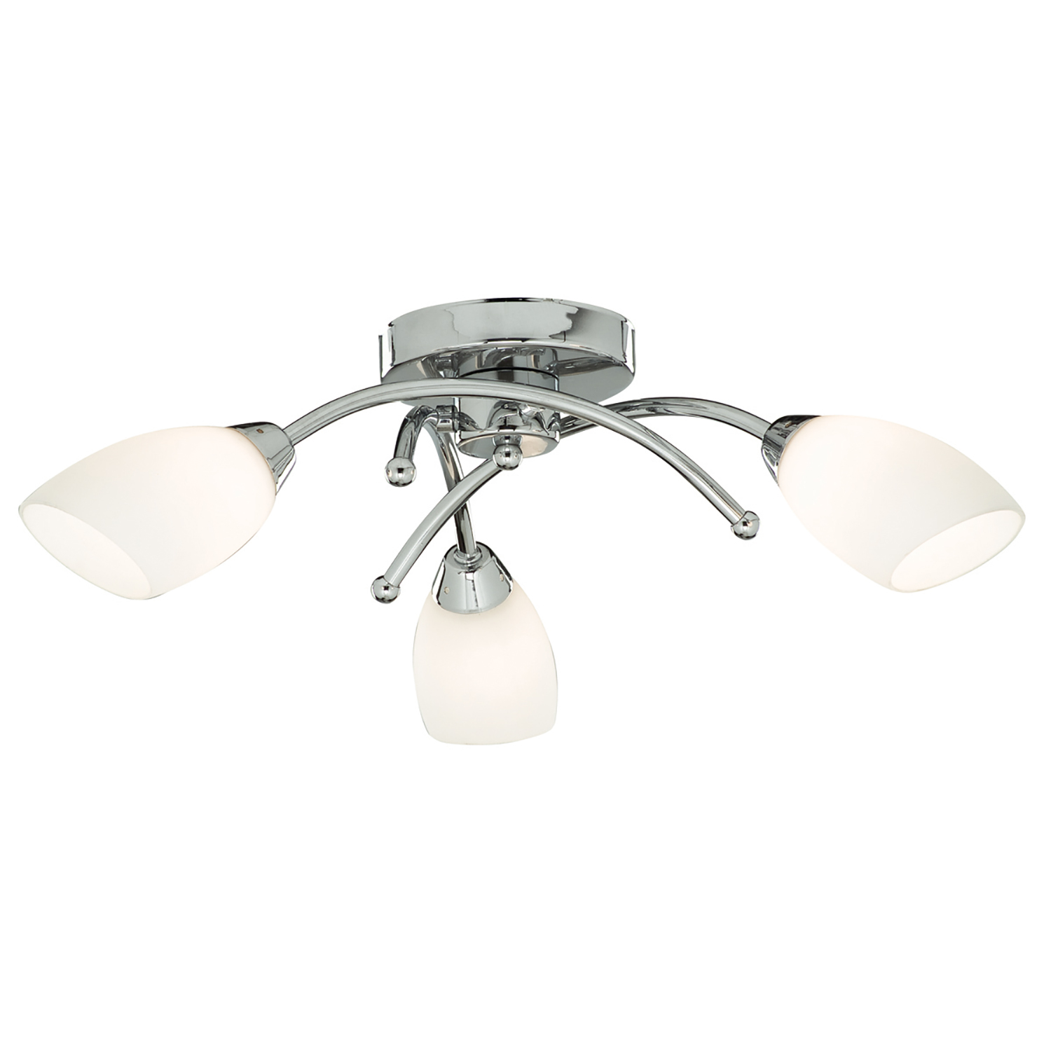 Image of Searchlight Bathroom Ip44 3 Light Flush, Chrome