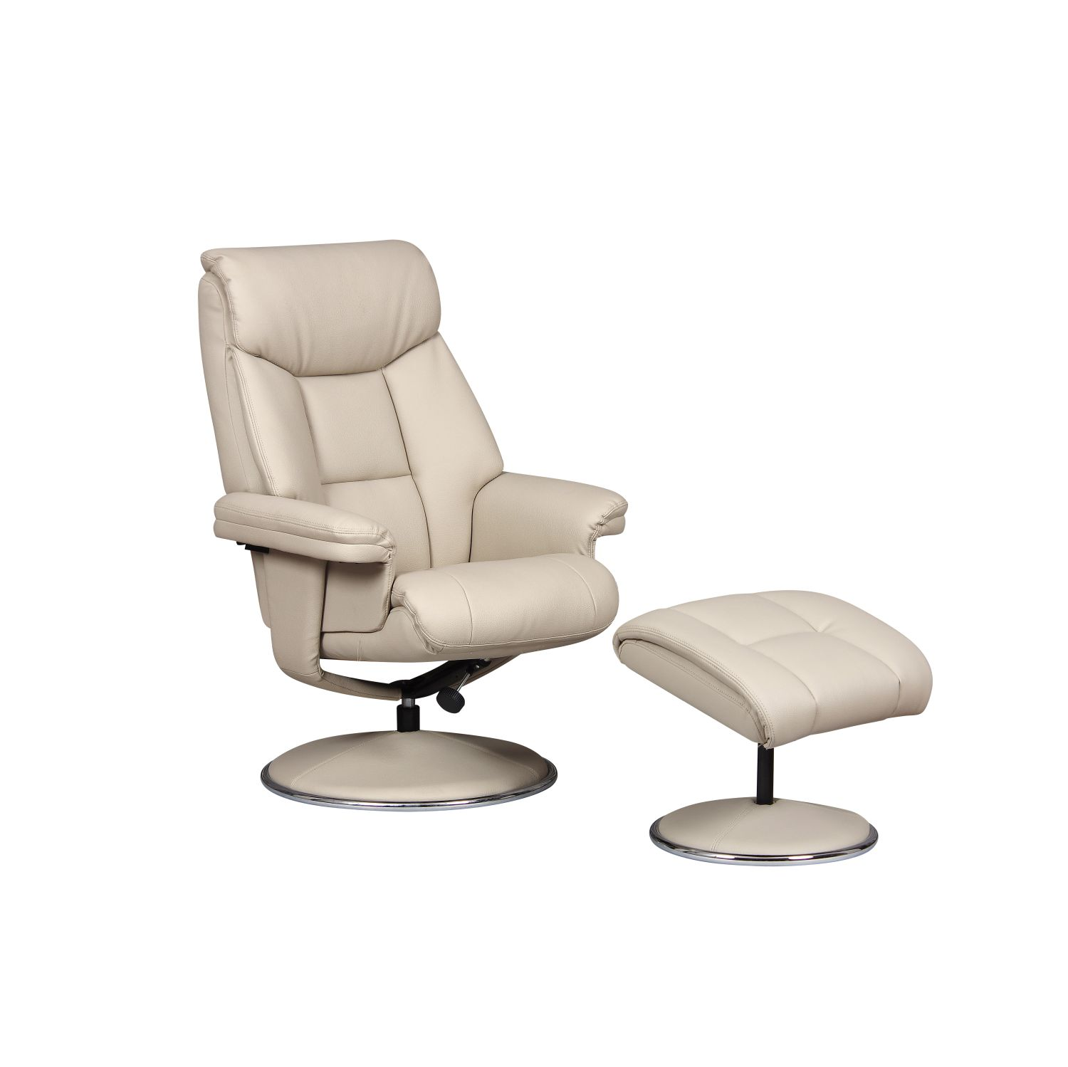 Image of Casa Bayonne Leather Look Chair & Footstool