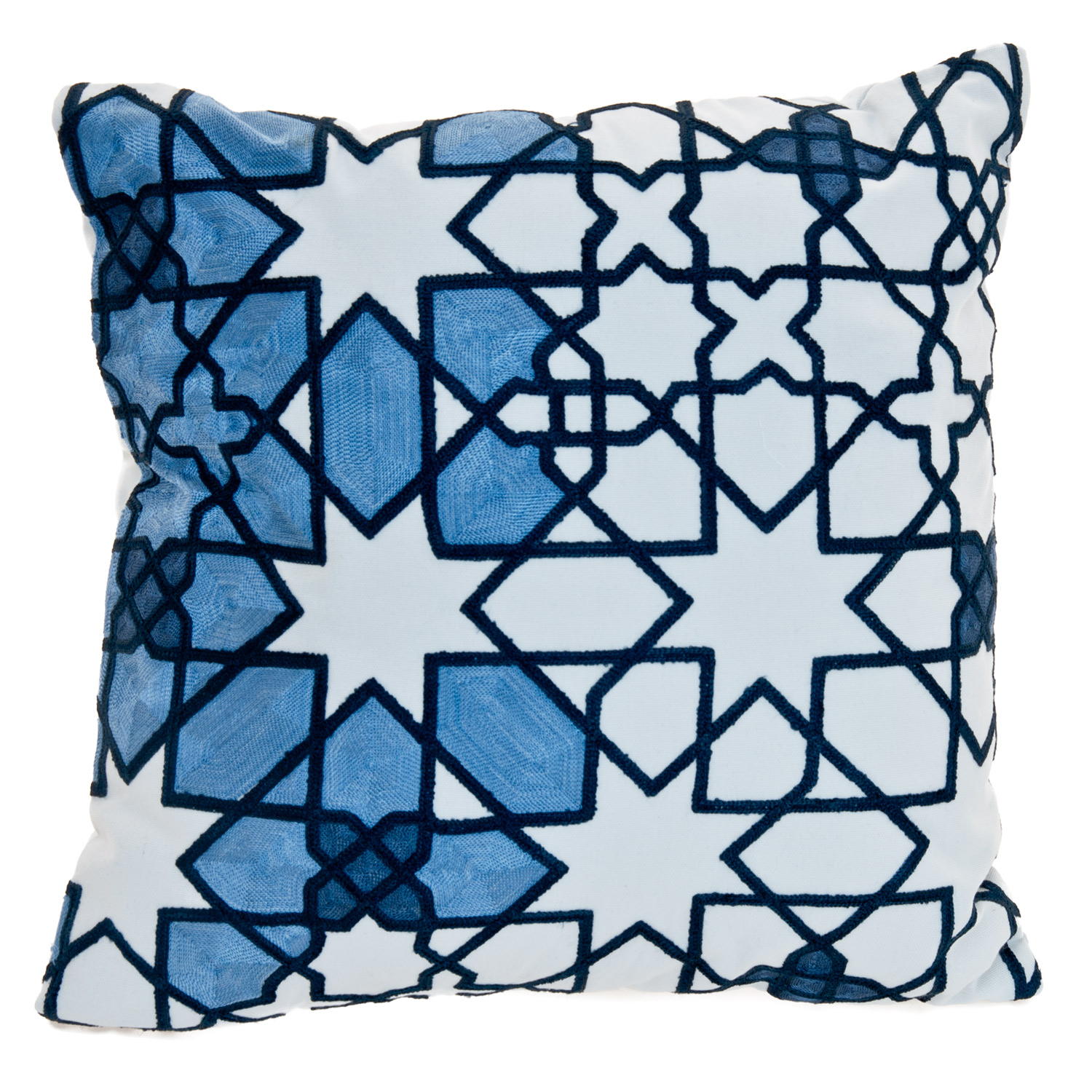 Image of Casa Moroccan Nights Star Cushion, Blue