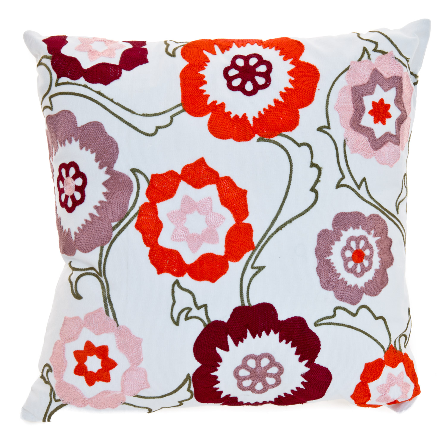 Image of Casa Fancy Floral Embroidered Cushion