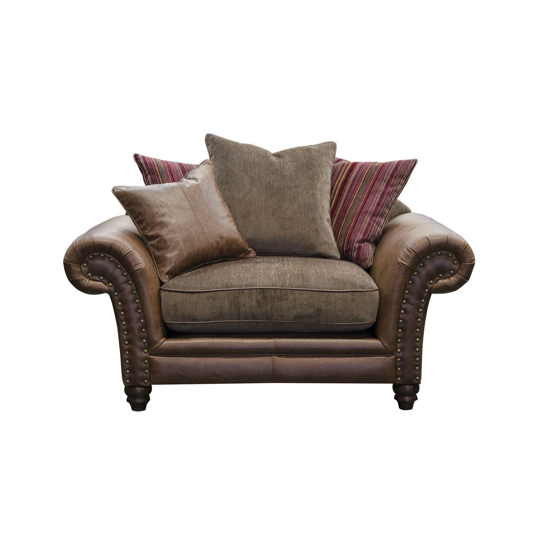 Image of Alexander & James Hudson Snuggler Fabric Love Seat