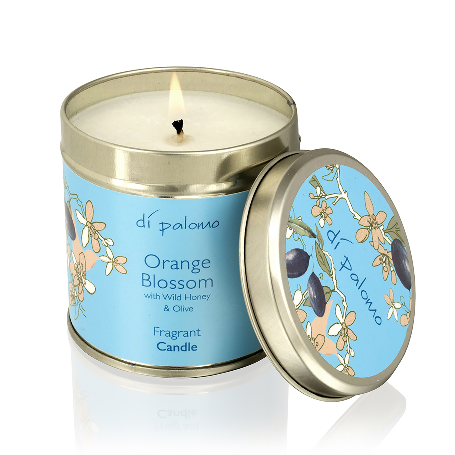 Image of Di Palomo Orange Blossom Fragrant Candle Tin, 200g