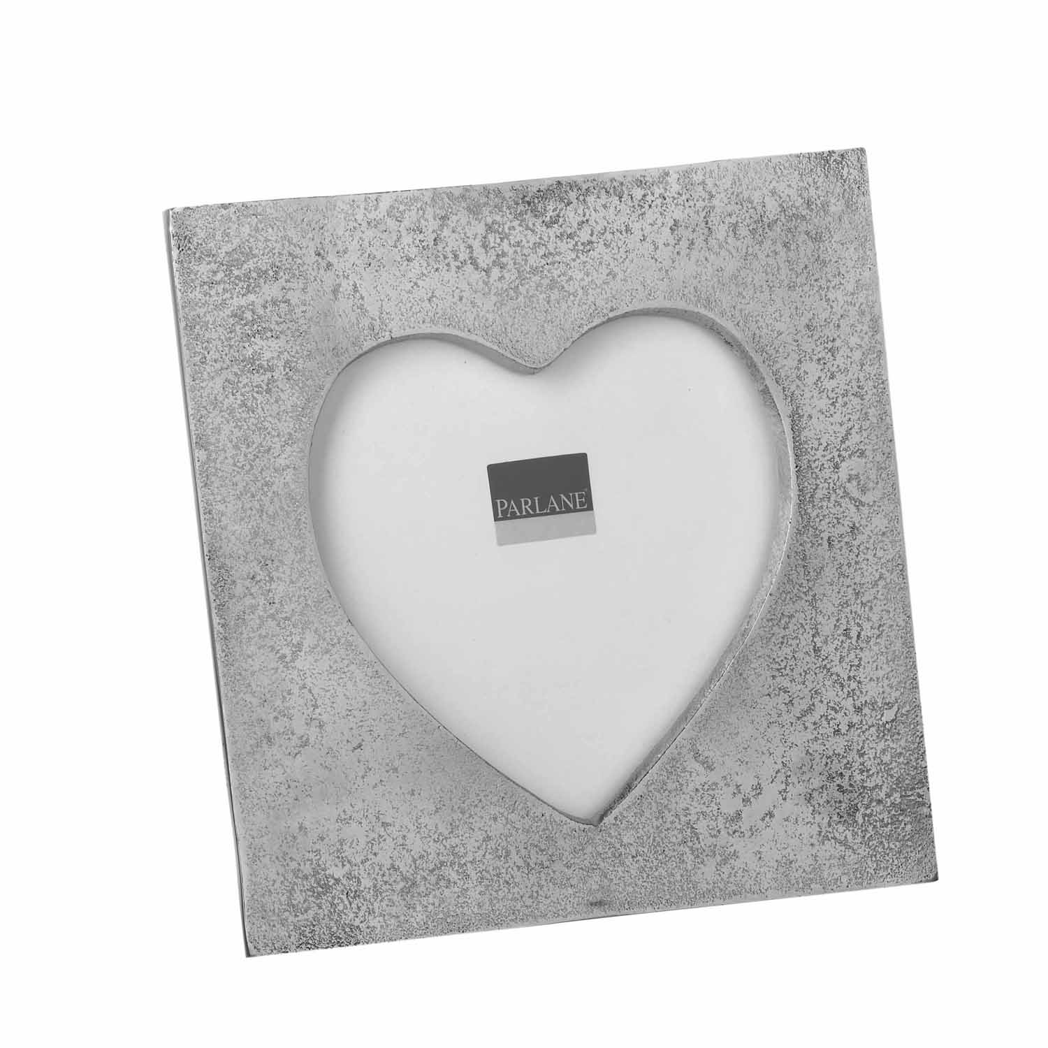 Heart Picture Frame, Silver | Leekes