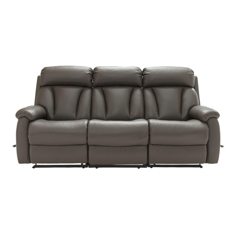 Image of La-Z-Boy Georgina 3 Seater Manual Recliner Leather Sofa