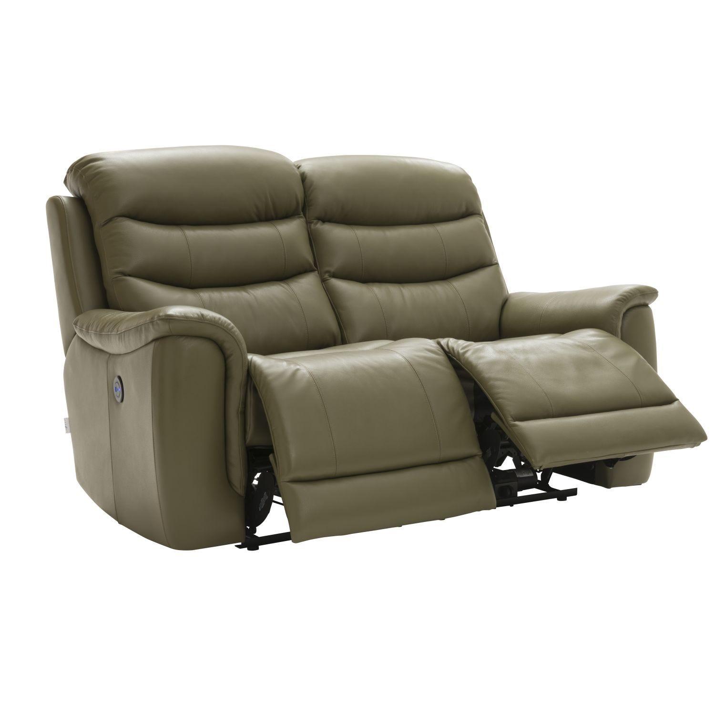 Image of La-z-boy Sheridan 2 Seater Power Recliner Leather Sofa